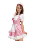 Alice Maid Gingham Check Pink