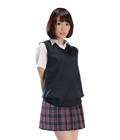 Tartan Check Skirt School Uniform (Navy)