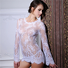 Bell Sleeve Lacy Top White