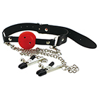 Devil Ball Gag And Nipple Clip