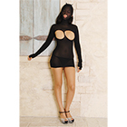 Masked Cupless Mini Dress