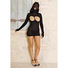 Masked Cupless Mini Dress