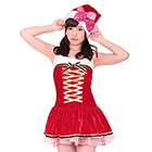 Gold Ribbon Santa Costume