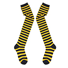 Knee-high Socks (Black x Orange)
