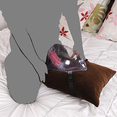 使用イメージ。ベッド上で腰振りオナニーは定番ですが、もっとも需要が高いのもコレ。非常に安定感があります。