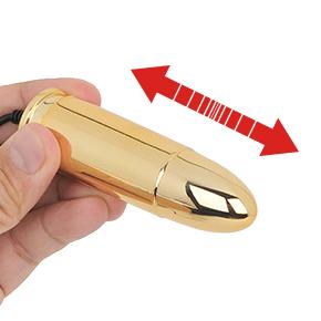 内部で分銅がズドドドド…と前後に動き、その振動がボディ全体を揺らします。ダイレクトな振動伝達が超過激!