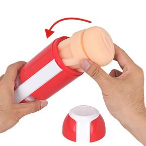 【使用手順2】本体ケースに専用ホールを装着。キャップを外して、溝にハマるまでグイッと押し込みましょう。