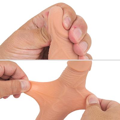 亀頭がモッチモチなので挿入時もほとんど痛くありません。本物ように表皮がびろーんと伸び、芯が硬いのもグッド。