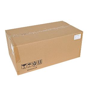 ビニール包装の本体周囲に緩衝材を詰めた、無地の大型ダンボールを2重梱包にしてお届けします。重いです。