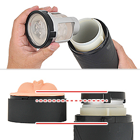 「<a href=&quot;https://www.e-nls.com/pict1-17525&quot; target=&quot;_blank&quot;>A10サイクロン</a>」の専用カップがぴったりハマります。ただし、この場合はピストン時にカップのフチが当たってしまうため、スリーブが使えなくなります。ご注意ください。
