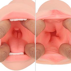 おクチはのど奥の突起が、ヴァギナは螺旋状に隆起した肉壁が、それぞれペニスを強烈に刺激。射精力も優秀です。