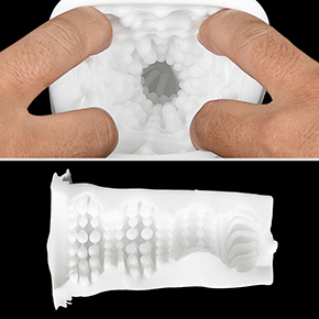 【ミステリーサイクロン】最奥のタテヒダと、メリハリのあるイボ地帯が秀逸。回転時の亀頭刺激もクセになります。