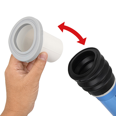 コンフォートパッドは脱着も簡単。これを使うと玉袋が吸い込まれにくくなり、下腹部へのクッション性も良化します。