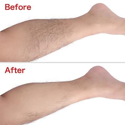 【使用手順4】拭き取り後、除毛した部位を水かお湯でよく洗えば作業完了。痛み・かゆみもなく、とってもスマート。
